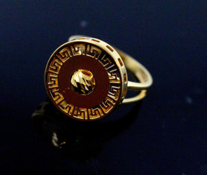 "21k 21ct Gold Ladies Designer Ring SIZE 8.5 ""RESIZABLE"" R1585"