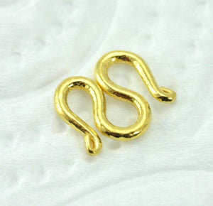 22k 22ct SOLID GOLD CLASP M STYLE BAHT FOR CHAIN AND BRACELET Medium MF