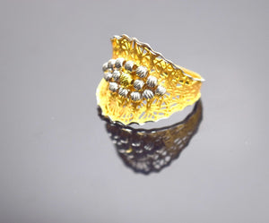 "22k Solid Gold Elegant Ring Band Modern Design ""resizable"" R190 