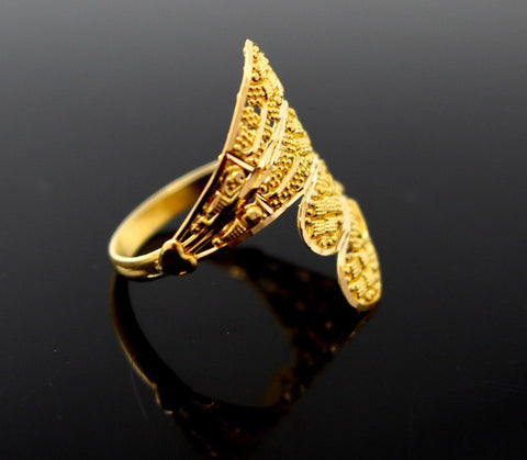 "22k 22ct Solid Gold Elegant ladies Designer ring band ""RESIZABLE"" R1640 