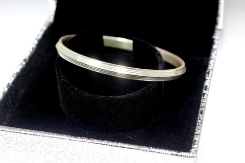 1PC HANDMADE Men b32 Solid Sterling Silver 925 size 2.50 inch kara Bangle Cuff