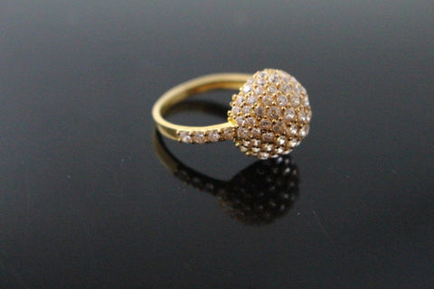 "22k 22ct Solid Gold ELEGANT Antique Ladies Stone Ring SIZE 6.5 ""RESIZABLE"" r1540"