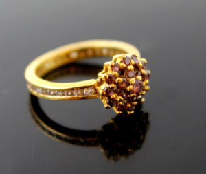 "22k 22ct Solid Gold ELEGANT Purple Stone Ring ""NON RESIZABLE"" size 7.75 R1236"