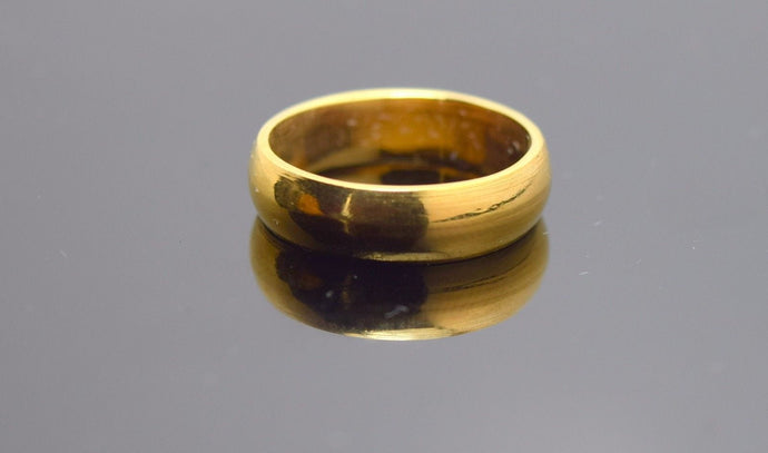 22k Solid Gold ELEGANT PLAIN BAND Ring