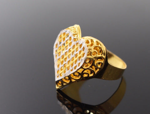"22k 22ct Solid Gold ELEGANT LADIES Ring SIZE 7.5 RESIZABLE"" R1076"