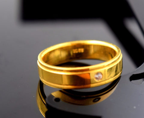 "22k Solid Gold ELEGANT MEN Ring Band Exquisite Design ""RESIZABLE"" R526"