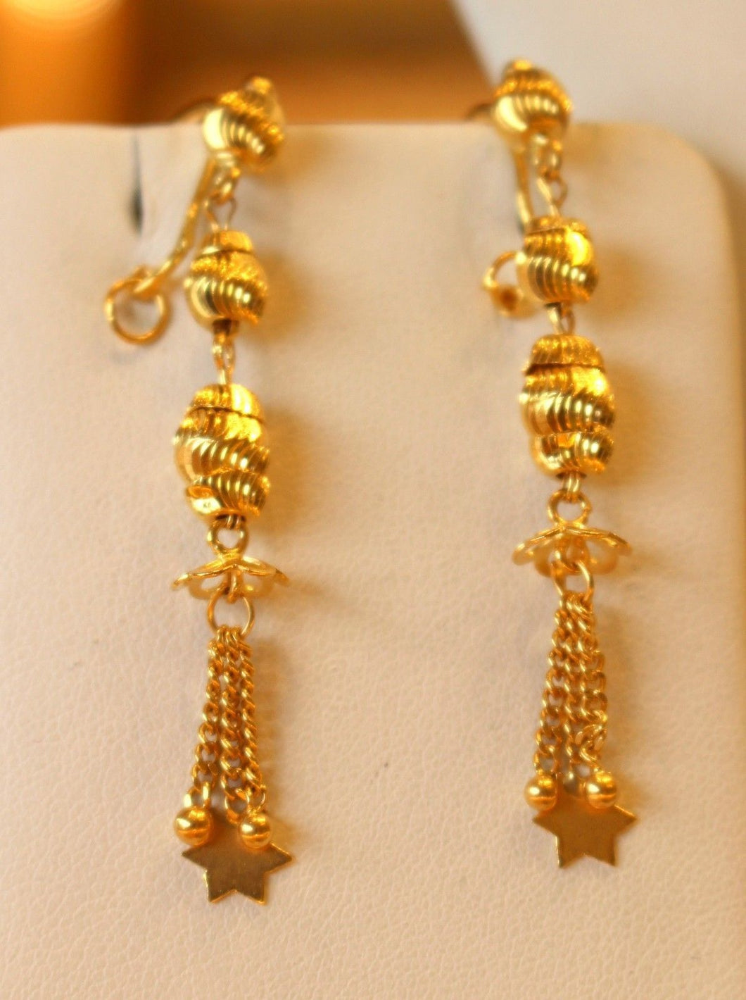 22k 22ct Solid Gold Simple Light Chain Set Antique Ball Design cs130
