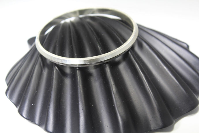1PC HANDMADE Men b16 Solid Sterling Silver 925 size 2.50 inch kara Bangle Cuff