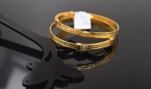 22k Jewelry Solid Gold ELEGANT PLAIN BABY CHILDREN BANGLE BRACELET mf