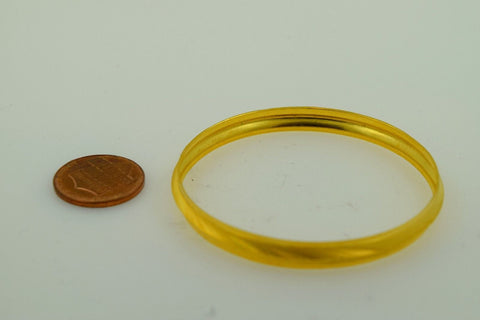 """CHOOSE YOUR SIZE"" 22k Solid Gold 5MM BABY BANGLE BRACELET SIKHI KARA kids cb23"