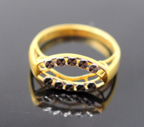 "22k 22ct Solid Gold ELEGANT RHODIUM Ring BAND ""RESIZABLE"" R1137"