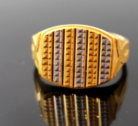 "22k 22ct Solid Gold ELEGANT MENS RHODIUM Ring SIZE 9.2 ""RESIZABLE"" r1126"