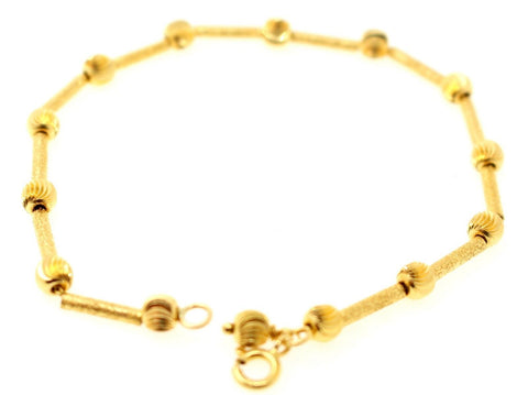 22k 22ct Solid Gold ELEGANT THIN LINKED MEN'S DESIGNER Bracelet B900