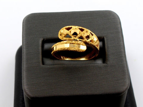 22k 22ct Solid Gold BEAUTIFUL WOMEN RING BAND Size 7.0 RESIZABLE R1383 | Royal Dubai Jewellers