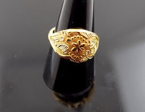 "22k Jewelry Solid Gold ELEGANT Men Ring ""RESIZABLE"" R403 size 8.5"