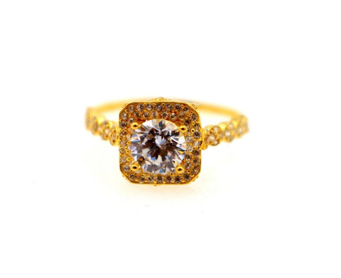 "22k 22ct Solid Gold DIAMOND CUT LADIES RING SIZE 7.0' RESIZABLE"" R1624 