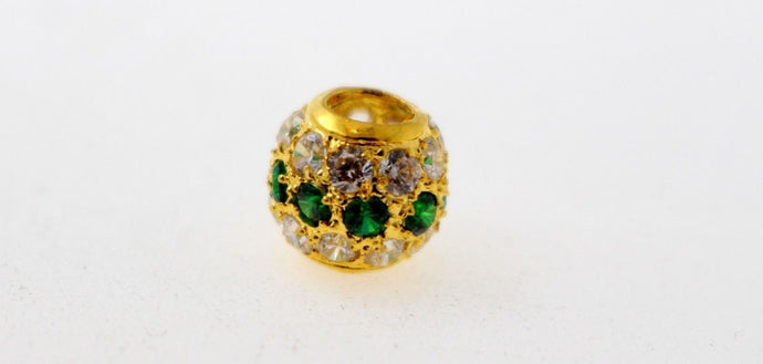 22k 22ct Solid Gold Elegant Modern Design Round Shape Emerald Pendant p1281 | Royal Dubai Jewellers