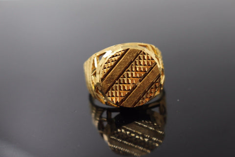 "22k 22ct Solid Gold ELEGANT Charm Mens Ring SIZE 10.0 ""RESIZABLE"" r1050"