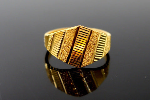 "22k Solid Gold ELEGANT DESIGNER LADIES RING SIZE 7.5 ""RESIZABLE"" R1601 