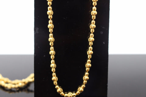 22k 22ct Yellow Solid Gold DESIGNER ITALIAN Chain Necklace 3.3mm C568