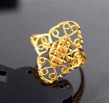 "22k Jewelry Solid Gold ELEGANT Ring Classic Design ""RESIZABLE"" R591a 