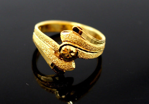 "22k Solid Gold DESIGNER DIAMOND CUT LADIES RING SIZE 7.5 ""RESIZABLE"" R1600 