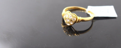 "22k 22ct Solid Gold ELEGANT Ladies Ring SIZE 6 ""RESIZABLE"" R87"