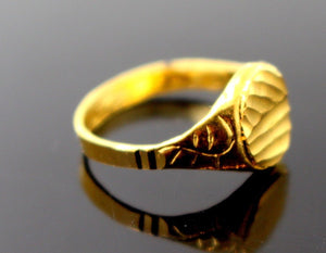 "22k 22ct Solid Gold BEAUTIFUL BABY CHILD Ring BAND ""RESIZABLE"" R1189 - Royal Dubai Jewellers"