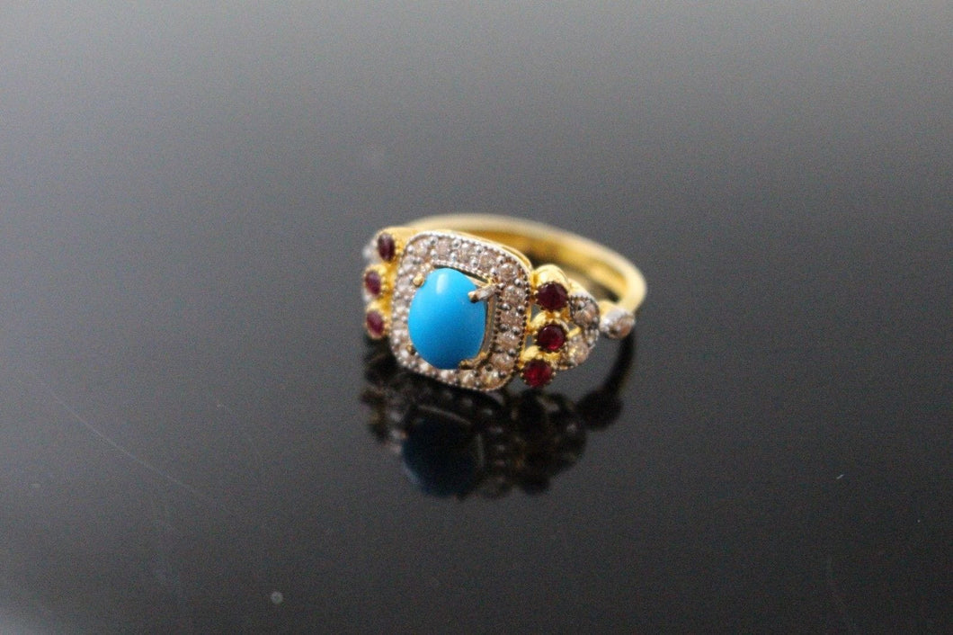 22k 22ct Solid Gold ELEGANT Antique Ladies Stone Ring SIZE 8