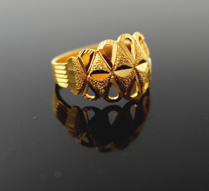 22k 22ct Solid Gold BEAUTIFUL WOMEN RING BAND Size 7.2 RESIZABLE R1373