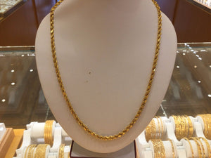 "22k Jewelry Yellow Gold Rope Chain Solid Heavy Strong thick Necklace 20"" c176 
