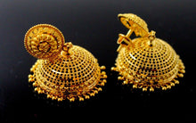 22k 22ct Jewelry Solid Gold JHUMKIE LONG JHUMKE DANGLING JHUMKA Earring E5883 | Royal Dubai Jewellers