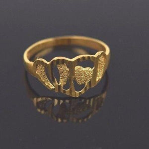 "22k 22ct Solid Gold ELEGANT Ring Band with Box ""RESIZABLE"" R553"