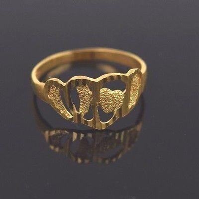 22k 22ct Solid Gold ELEGANT Ring Band with Box