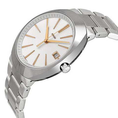 Rado Men's R15943123 D Star XL Analog Display Swiss Quartz Silver Watch