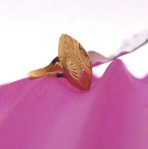 "22k 22ct Solid Gold BEAUTIFUL BABY CHILD Ring SIZE 0.9 ""RESIZABLE"" r406"