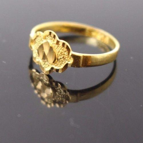 22k 22ct Solid Gold BEAUTIFUL BABY CHILD Ring SIZE 2.0