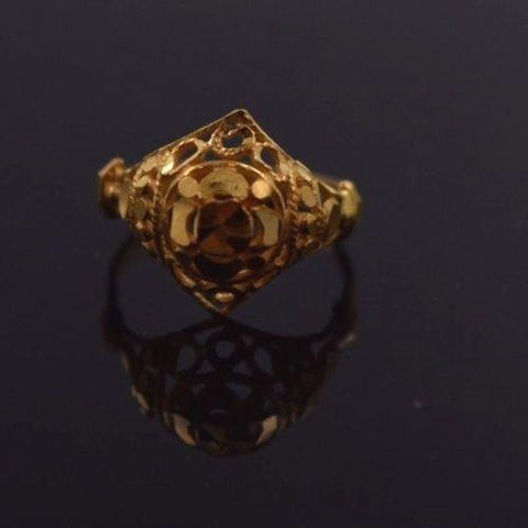 "22k 22ct Solid Gold ELEGANT BABY Ring SMALL SIZE Band with Box ""RESIZABLE"" R511"