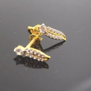 22k 22ct Solid Gold ELEGANT STONE EARRINGS with free box E615