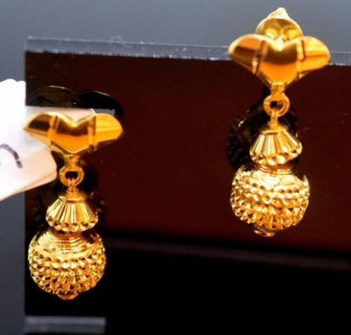 22k 22ct Solid Gold ELEGANT EARRINGS HANGING with free box E640