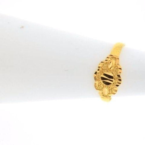 "22k 22ct Solid Gold ELEGANT BABY Ring SMALL SIZE Band with Box ""RESIZABLE"" R534"