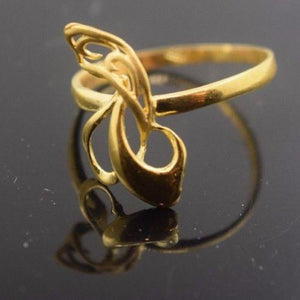 "22k 22ct Solid Gold ELEGANT Ring with Box ""RESIZABLE"" R431"