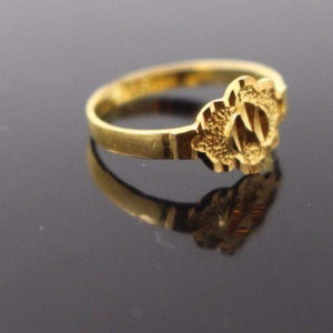 "22k 22ct Solid Gold BEAUTIFUL BABY CHILD Ring SIZE 2.0 ""RESIZABLE"" r1201"