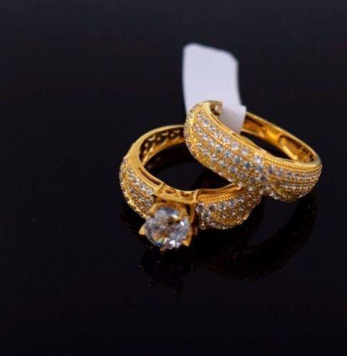 22k 22ct Solid Gold ELEGANT SOLITAIRE STONE Ring Band with Box