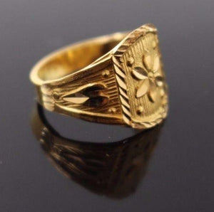 "22k 22ct Solid Gold BEAUTIFUL BABY CHILD Ring SIZE 2.5 ""RESIZABLE"" r1200"
