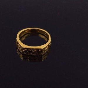 "22k 22ct Solid Gold ELEGANT BABY Ring SMALL SIZE Band with Box ""RESIZABLE"" R535 - Royal Dubai Jewellers"