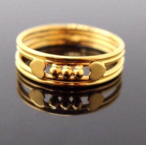 "22k 22ct Solid Gold ELEGANT Ring BAND ""RESIZABLE"" R1131"