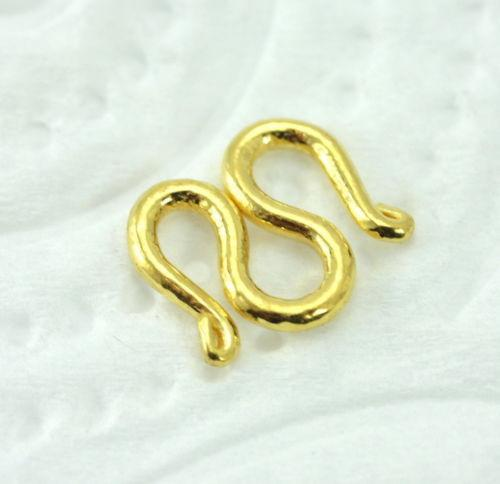 22k 22ct SOLID GOLD CLASP M STYLE BAHT FOR CHAIN AND BRACELET Extra Small MF