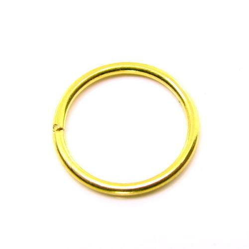 707b3ca51 Simple wire nose ring Solid 22K Real Gold septum nostril Piercing hoop 20g  USA