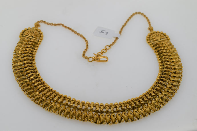 22k Antique Finished Modern Filigree Design Necklace Set S7